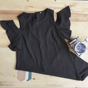 COLD SHOULDER SHEATH DRESS NWOT